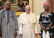 Vatican: Pope Francis meets President of Burkina Faso, 20 Oct. 2016