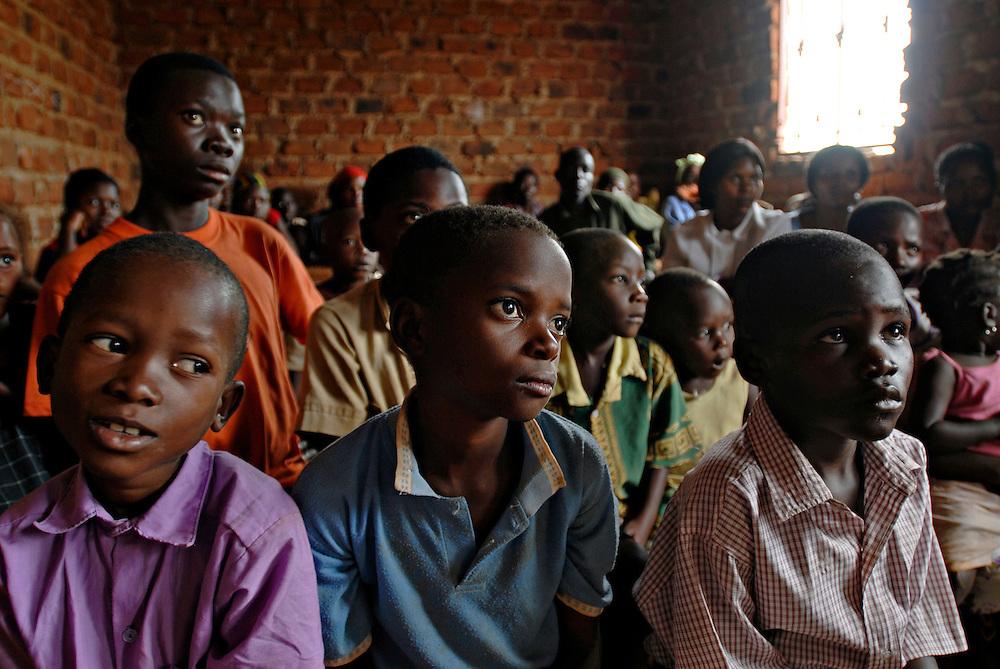 Students at a school in Kampala, Uganda. Photo by Daniel Hayduk