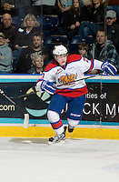 KELOWNA, CANADA, NOVEMBER 11: Curtis Lazar #27 of the Edmonton Oil Kings skates on the ice as the Edmonton OIl Kings visit the Kelowna Rockets  on November 11, 2011 at Prospera Place in Kelowna, British Columbia, Canada (Photo by Marissa Baecker/Shoot the Breeze) *** Local Caption *** Curtis Lazar;