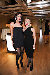 Left to right, former Miss Ireland JOANNE BLACK and SILVIA DAMIANI at a dinner hosted by jewellers Damiani at The Connaught Hotel, London on 3rd February 2010.