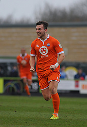 Braintree Town's Mitch Brundle celebrates his goal  - Photo mandatory by-line: Nizaam Jones - Mobile: 07966 386802 - 14/03/2015 - SPORT - Football - Nailsworth - The New Lawn - Forest Green Rovers v Braintree  - Vanarama Football Conference.