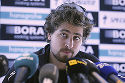 March 31, 2018 - Sint-Martens-Latem, BELGIUM - Slovakian Peter Sagan of Bora-Hansgrohe pictured during a press conference, Saturday 31 March 2018, ahead of Sunday's 'Ronde van Vlaanderen 2018 - Tour des Flandres - Tour of Flanders' one day cycling race...BELGA PHOTO NICOLAS MAETERLINCK (Credit Image: © Nicolas Maeterlinck/Belga via ZUMA Press)