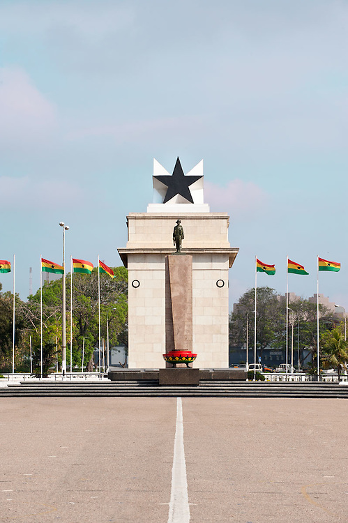 """The Independence Square of Accra, Ghana, inscribed with the words """"Freedom and Justice, AD 1957"""", commemorates the independence of Ghana, a first for Sub Saharan Africa. It contains monuments to Ghana's independence struggle, including the Independence Arch, Black Star Square, and the Liberation Day Monument"""