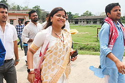 May 5, 2018 - Guwahati, Assam, India - Member of Parliament (MP) Poonam Mahajan during 'Yuva Prabah Aim 2019' conclave. (Credit Image: © David Talukdar/Pacific Press via ZUMA Wire)