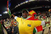 Bafana Supporter  during the soccer match of the 2009 Confederations Cup between Spain and South Africa played at the Freestate Stadium,Bloemfontein,South Africa on 20 June 2009.  Photo: Gerhard Steenkamp/Superimage Media.