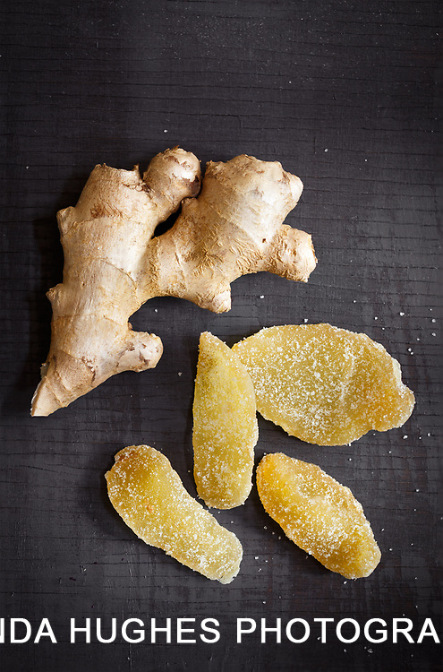 Fresh Ginger Root with Crystalized Ginger
