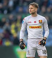 FODBOLD: Nicolai Larsen (FC Nordsjælland) under kampen i Superligaen mellem Brøndby IF og FC Nordsjælland den 13. maj 2019 på Brøndby Stadion. Foto: Claus Birch.