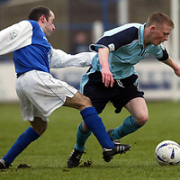Queen of the South v St Johnstone..  04.02.03<br />Brian McLaughlin and MArk Baxter<br /><br />Pic by Graeme Hart<br />Copyright Perthshire Picture Agency<br />Tel: 01738 623350 / 07990 594431