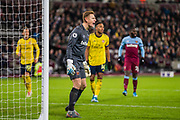 David Martin (GK) (West Ham) shouting out from the goal during the Premier League match between West Ham United and Arsenal at the London Stadium, London, England on 9 December 2019.