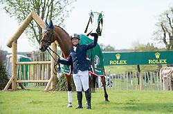 Jung Michael, (GER), La Biosthetique Sam FBW with the Rolex Grand Slam Trophy<br /> CCI4* - Mitsubishi Motors Badminton Horse Trials 2016<br /> © Hippo Foto - Jon Stroud<br /> 06/05/16