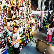 A massive art market in Havana, Cuba.