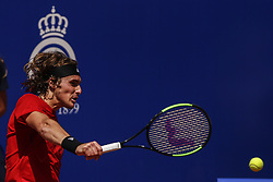 April 27, 2018 - Barcelona, Spain - Stefanos TSITSIPAS from Greece during the Barcelona Open Banc Sabadell 66º Trofeo Conde de Godo quarter-finals at Reial Club Tenis Barcelona on 27 of April of 2018 in Barcelona. (Credit Image: © Xavier Bonilla/NurPhoto via ZUMA Press)