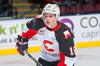 KELOWNA, CANADA - SEPTEMBER 28: Ryan Schoettler #16 of Prince George Cougars skates against the Kelowna Rockets on September 28, 2016 at Prospera Place in Kelowna, British Columbia, Canada.  (Photo by Marissa Baecker/Shoot the Breeze)  *** Local Caption *** Ryan Schoettler;