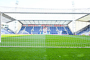 A general view of the stadium from behind the goal before the EFL Sky Bet Championship match between Preston North End and Leeds United at Deepdale, Preston, England on 9 April 2019.