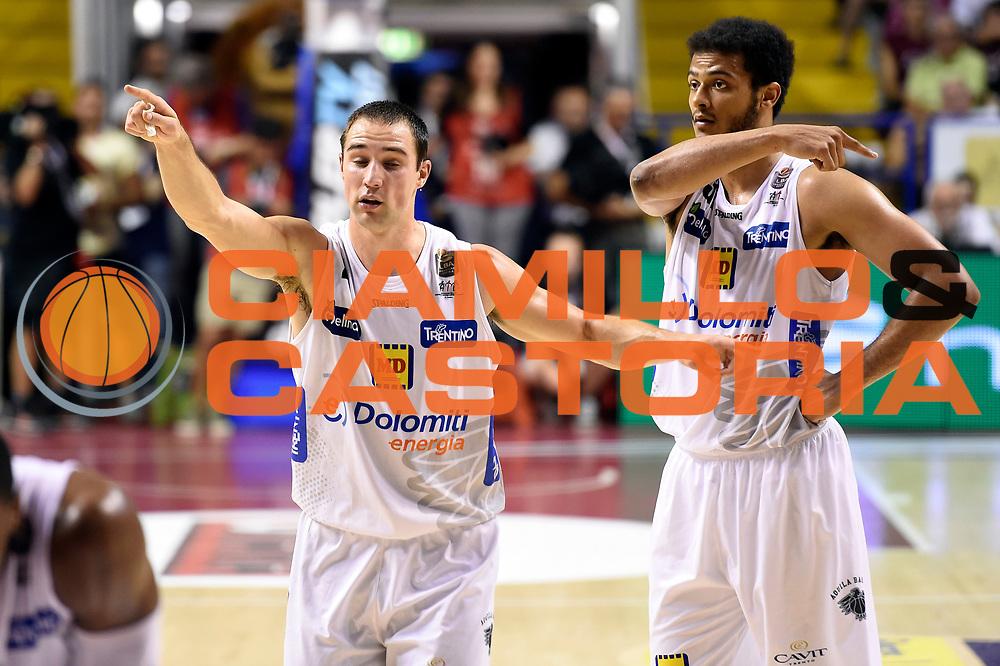 Aaron Craft, Shavon Shields<br /> Umana Reyer Venezia - Dolomiti Energia Aquila Basket Trento<br /> Lega Basket Serie A 2016/2017<br /> Playoff, finale gara 2<br /> Venezia, 12/06/2017<br /> Foto M.Ceretti / Ciamillo-Castoria