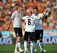 Wolverhampton Wanderers/Fulham Premiership 23.04.11<br />Photo: Tim Parker Fotosports International<br />Andy Johnson Fulham celebrates equalizing goal with team mates