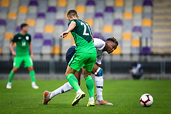 Simakan Mohamed of France vs Adam Gnezda Cerin of Slovenia during friendly Football match between U21 national teams of Slovenia and France, on September 8, 2019 in Ljudski Vrt, Maribor, Slovenia. Photo by Blaž Weindorfer / Sportida