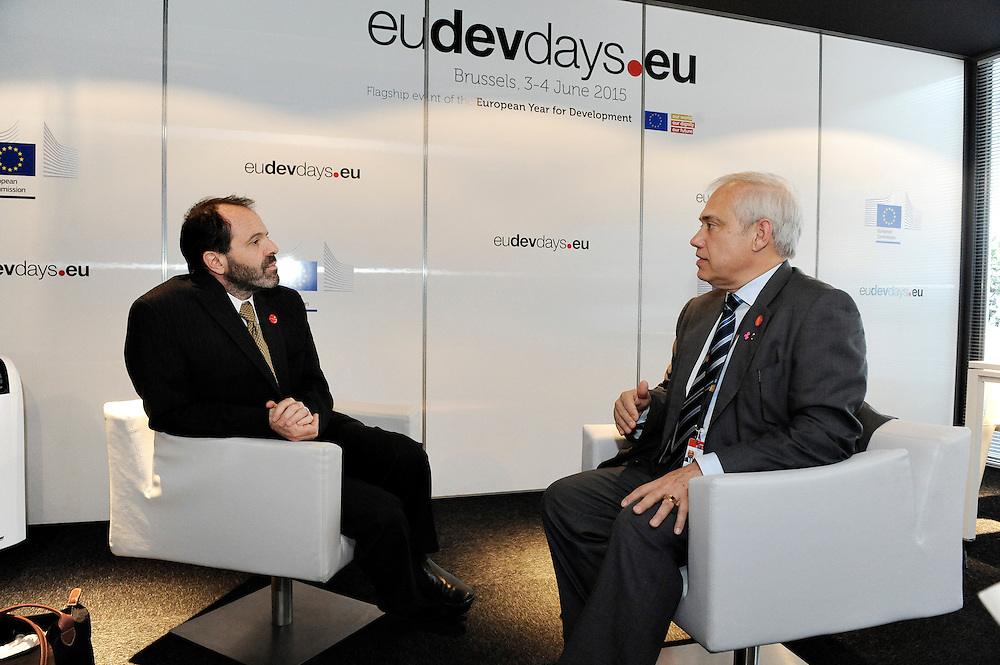 20150604- Brussels - Belgium - 04 June2015 - European Development Days - EDD  - Fernando Frutuoso Devco and Alex Thier Usaid © EU/UE