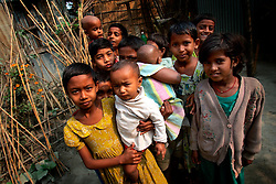 BANGLADESH SIRAJGANJ RADHUNIBARI 30JAN07 - Young children pose for a photo in a village in the Jamuna river area, traditionally prone to flooding during the Monsoon season...jre/Photo by Jiri Rezac..© Jiri Rezac 2007..Contact: +44 (0) 7050 110 417.Mobile:  +44 (0) 7801 337 683.Office:  +44 (0) 20 8968 9635..Email:   jiri@jirirezac.com.Web:    www.jirirezac.com..© All images Jiri Rezac 2007 - All rights reserved.