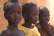 Group of children in Gorom Gorom, Northeastern Burkina Faso.