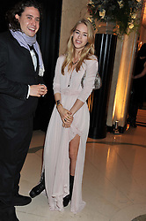 ADAM WAYMOUTH and MARY CHARTERIS at a dinner and dance hosted by Leon Max for the charity Too Many Women in support of Breakthrough Breast Cancer held at Claridges, Brook Street, London on 1st December 2011.