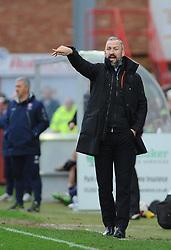 Cambridge United manager Shaun Derry gives orders - Mandatory by-line: Nizaam Jones/JMP - 18/03/2017 - FOOTBALL - LCI Rail Stadium - Cheltenham, England - Cheltenham Town v Cambridge United - Sky Bet League Two