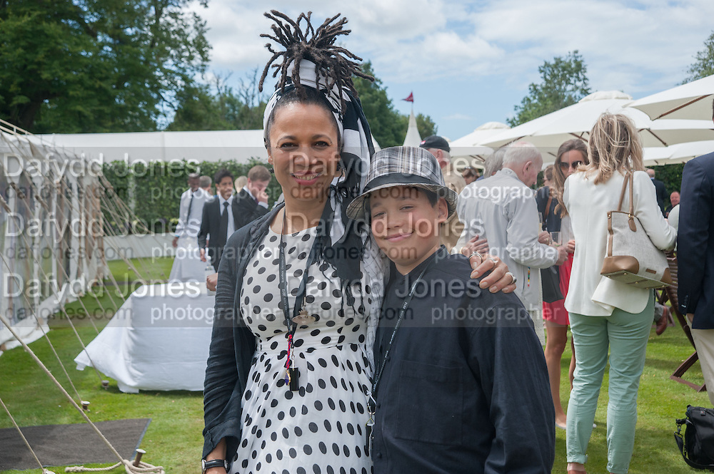 LADY NAOMI BURKE; MALARKY BURKE, The Cartier Style et Luxe during the Goodwood Festivlal of Speed. Goodwood House. 1 July 2012.