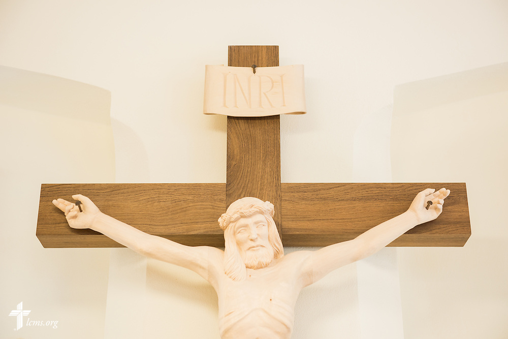 The crucifix in The International Lutheran Center at the Old Latin School on Thursday, April 30, 2015, in Wittenberg, Germany. LCMS Communications/Erik M. Lunsford