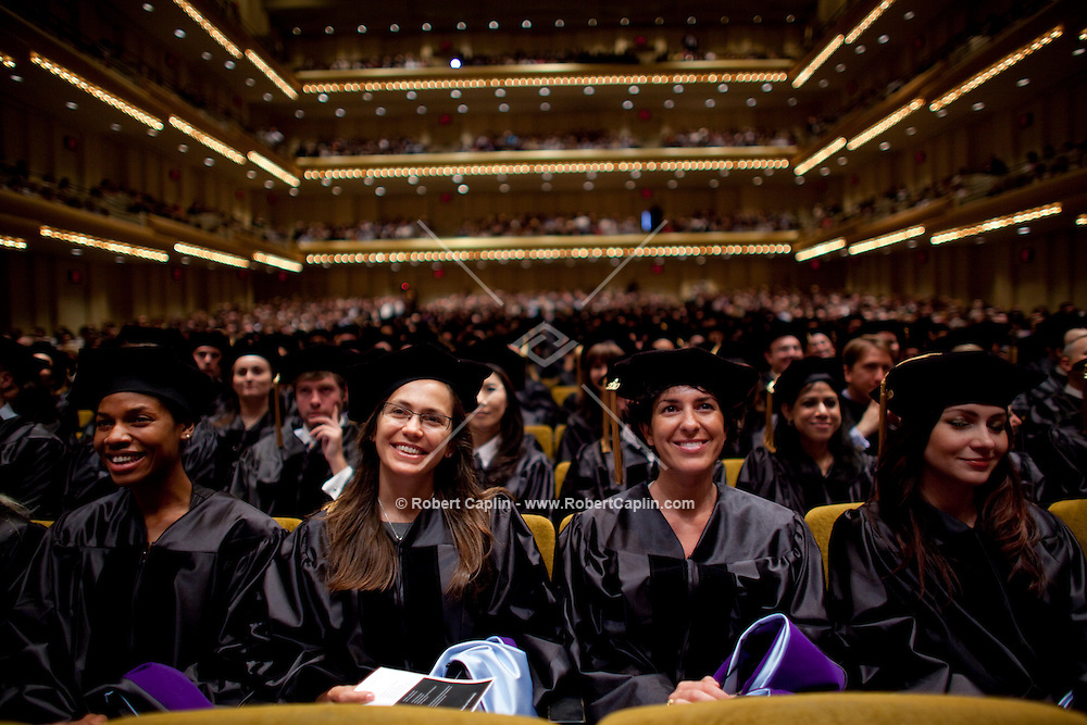Cardozo School of Law graduates wear during their commencement at Avery Fisher Hall in Lincoln Center...Photo by Robert Caplin .