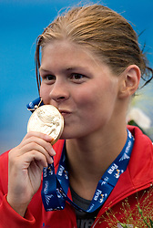 Winner Lotte Friis of Denmark at the victory ceremony after the Women's  800m Freestyle Final during the 13th FINA World Championships Roma 2009, on August 1, 2009, at the Stadio del Nuoto,  in Foro Italico, Rome, Italy. (Photo by Vid Ponikvar / Sportida)