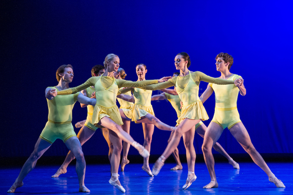 Number Nine, choreographed by Christopher Wheeldon and part of San Francisco Ballet's much anticipated season at Sadler's Wells, London, Autumn 2012.