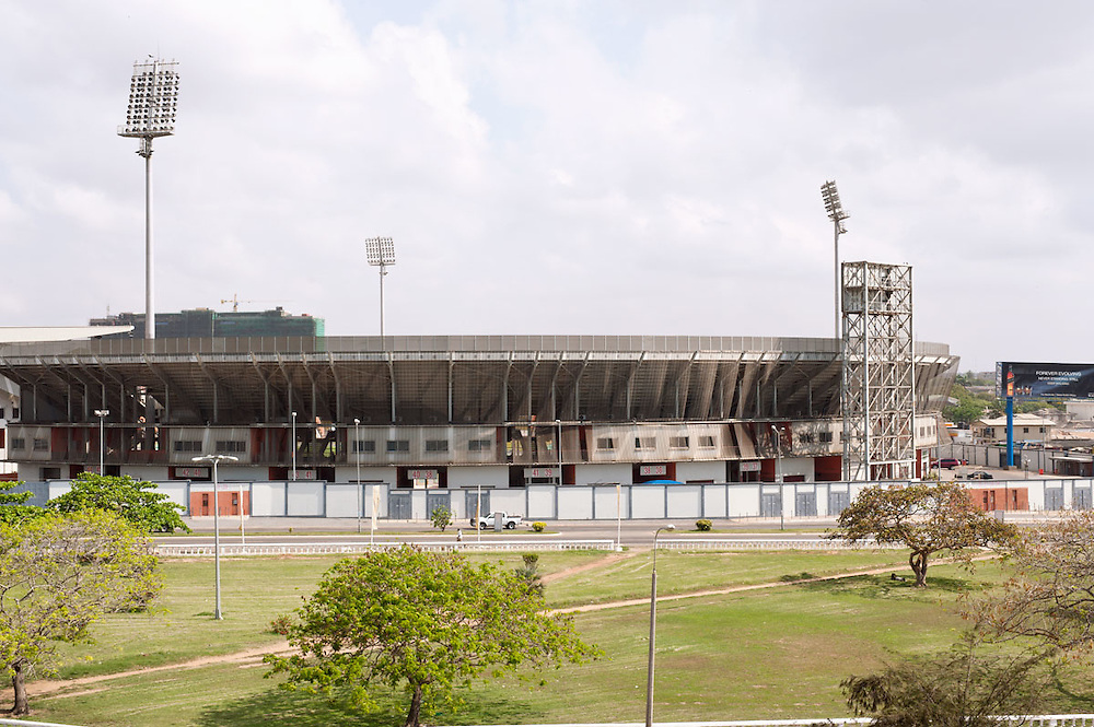 Accra Sports Stadium is a multi-use, 40,000 all-seater stadium in Accra, Ghana, mostly used for association football matches. The stadium is also the home of one of Africa's most popular clubs, Hearts of Oak as well as Great Olympics