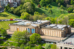 View of the Scottish National Gallery in Edinburgh, Scotland, UK