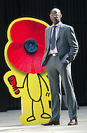 JAMES BOARDMAN / 07967642437 - 01444 412089 .Steve Thomas center manager at Expocentric in Brewers Green, Victoria with a Giant Poppy used for the D Day celebrations.. .