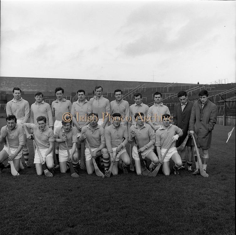 27/03/1966<br /> 03/27/1966<br /> 27 March 1966<br /> National Hurling League, Division II: Antrim v Kerry at Croke Park, Dublin. <br /> The Antrim team.