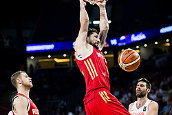 Nikita Kurbanov of Russia dunks during basketball match between National Teams  Spain and Russia at Day 18 in 3rd place match of the FIBA EuroBasket 2017 at Sinan Erdem Dome in Istanbul, Turkey on September 17, 2017. Photo by Vid Ponikvar / Sportida