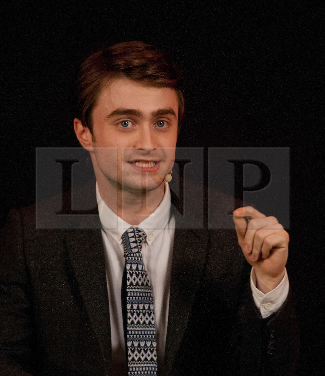 © licensed to London News Pictures. London, UK 09/02/12. Actor Daniel Radcliffe talks about his new movie, The Women in Black at Apple Store in Regent Street, London this evening (09/02/12). Photo credit: Tolga Akmen/LNP