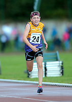 20 Aug 2016: Sadhbh Byrne, Wexford, in the Girls U12 100m heats.   2016 Community Games National Festival.  Athlone Institute of Technology, Athlone, Co. Westmeath. Picture: Caroline Quinn