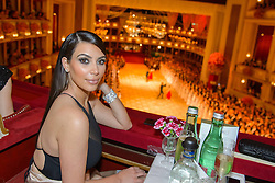 611476947<br /> Kim Kardashian attends the traditional Vienna Opera Ball (Wiener Opernball), Vienna State Opera, Vienna, Austria, Thursday, 27th February 2014. Picture by  imago / i-Images<br /> UK ONLY
