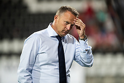 coach John van den Brom of AZ during the UEFA Europa League second round qualifying match between AZ Alkmaar and FC Kairat at the AFAS stadium on August 02, 2018 in Alkmaar, The Netherlands