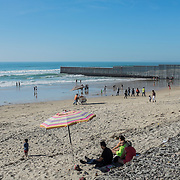 Tijuana. The beginning of the infamous wall between Mexico and United States of America, that starts in the Pacific Ocean and goes all the way for more than 1,000 km until Ciudad Juarez / El Paso border, in Texas
