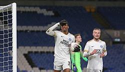 Ivan Toney of Peterborough United celebrates scoring his goal - Mandatory by-line: Joe Dent/JMP - 09/01/2019 - FOOTBALL - Stamford Bridge - London, England - Chelsea U21 v Peterborough United - Checkatrade Trophy