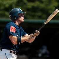 23 May 2010: Jordan Pennington of Montpellier is seen at bat during game 1/week 7 of the French Elite season match won 19-9 by Montpellier over the PUC, at the Pershing Stadium in Vincennes, near Paris, France.