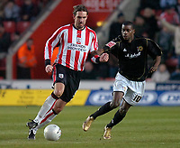 Photo: Alan Crowhurst.<br />Southampton v Milton Keynes Dons. The FA Cup.<br />07/01/2006. <br />Claus Lundekvam on the ball for Saints.