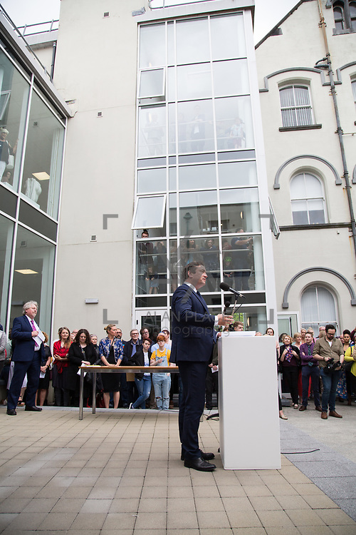 11.06.2017         <br /> International award winning artists are among the almost 200 graduates of Limerick School of Art and Design who's work went on exhibition at the LSAD Graduate Show 2017.<br /> <br /> Pictured is John Concannon, Director of Creative Ireland.<br /> <br />  <br /> Students from the college took control of the over-riding message of this historical show as they conceptualised, designed and delivered on the theme - be.cause.<br />  <br /> The hypothesis conceived by Graphic Design graduates Cassandra Walsh and David Reilly, is derived from the fact the graduates have now reached a stage where they are confident with their work, their interpretations and creative solutions. As creative minds they have an innate need to &ldquo;do&rdquo; something. There is just this need to create, be.cause.<br /> . Picture: Alan Place.