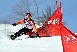 22-02-2014 SNOWBOARDEN: OLYMPIC GAMES: SOTSJI<br /> Parallelslalom Extreem park Rosa Khutor / Nicolien Sauerbreij<br /> ©2014-FotoHoogendoorn.nl