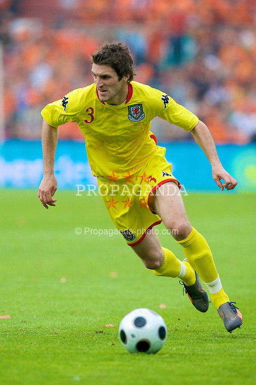 ROTTERDAM, THE NETHERLANDS - Sunday, June 1, 2008: Wales' Sam Ricketts in action against the Netherlands during the international friendly match at the de Kuip Stadium. (Photo by David Rawcliffe/Propaganda)