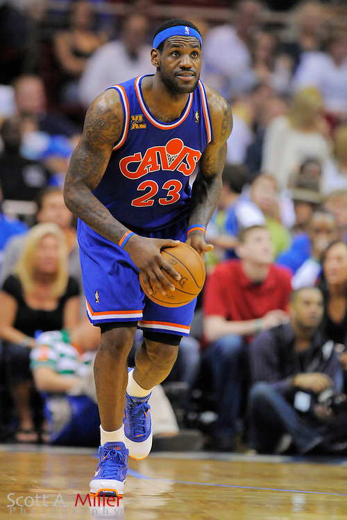 Cleveland Cavaliers forward LeBron James #23 in action against the Orlando Magic at Amway Arena, Florida, February 21, 2010..©2010 Scott A. Miller