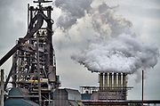 Nederland, the netherlands, ijmuiden,velsen, wijk aan zee, 13-6-2018 .Voorheen Koninklijke hoogovens, tatasteel, voert gesprekken om te fuseren met de duitse staalproducent Thyssen-Krupp . De nederlandse fabriek procuceert hoogwaardig staal waarvan veel voor de export naar de vs bestemd is . Door de importheffing van trump komt dit in gevaar .Foto: Flip Franssen