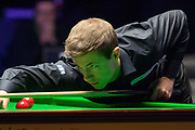 Jack Lisowski during the final frame at the World Snooker 19.com Scottish Open Final Mark Selby vs Jack Lisowski at the Emirates Arena, Glasgow, Scotland on 15 December 2019.